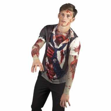 Carnavalspak zombie man shirt