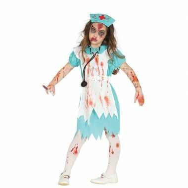 Zombie verpleegster/zuster verkleedpak kind