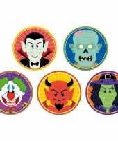 Halloween halloween onderzetters clown duivel heks vampier zombie