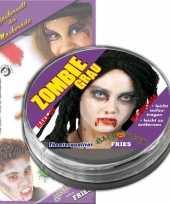Zombie schimk grijs wit